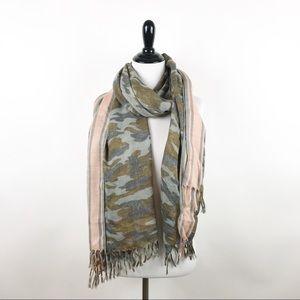 J. Crew camouflage print scarf